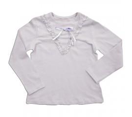 Блуза підліткова з атласним бантиком