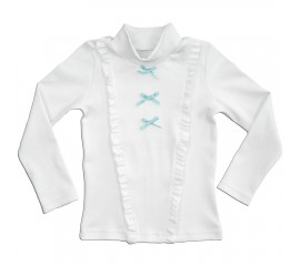 """Блуза школьная подростковая """"Бантики"""""""