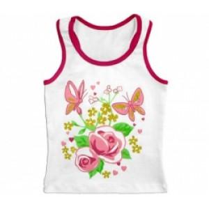 """Майка дитяча для дівчинки """"Рожеві троянди"""""""
