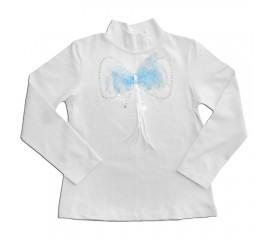 """Блуза дитяча для дівчинки """"Ажурний бант"""""""